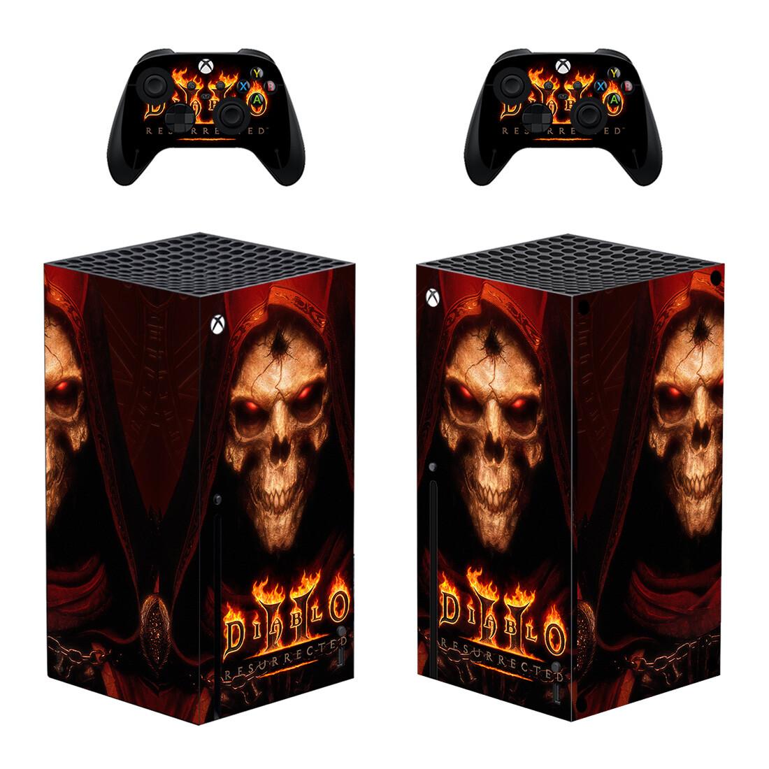 Diablo 2 Skin Sticker Decal for Xbox Series X