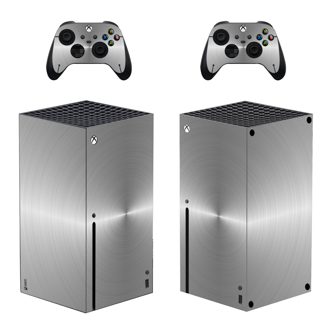 Solid Grey Skin Sticker For Xbox Series X And Controllers