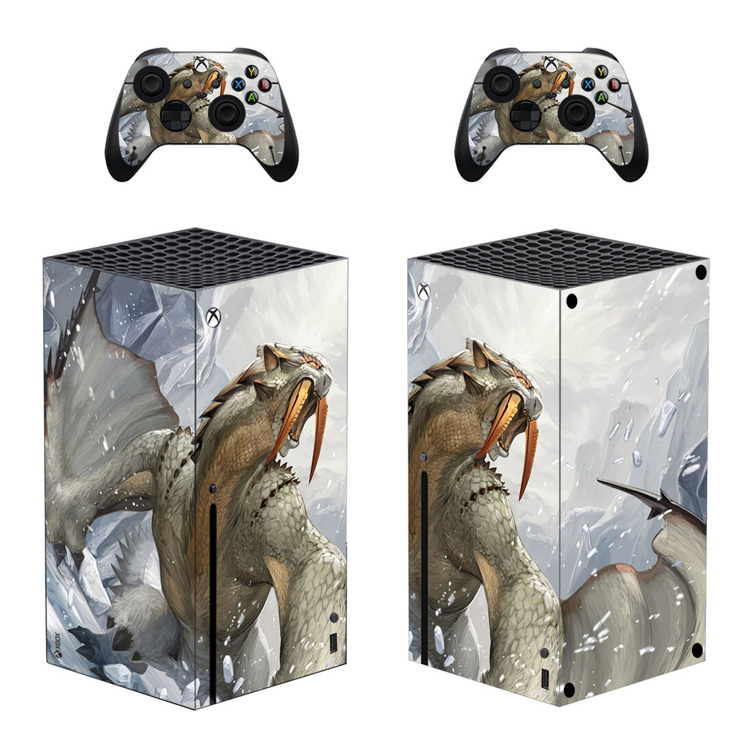 Dragon Skin Sticker For Xbox Series X And Controllers