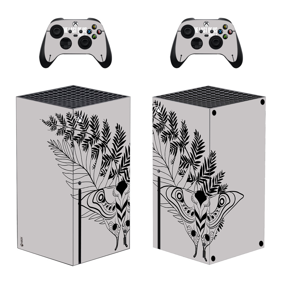 Last Of Us Moth Symbol Skin Sticker For Xbox Series X And Controllers